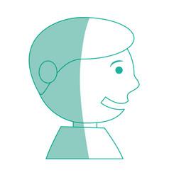 happy man face cartoon vector image vector image
