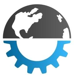 International industry gradient icon vector
