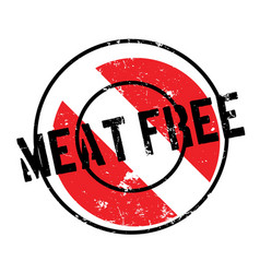 Meat free rubber stamp vector