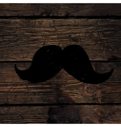 moustache sign on wooden wall vector image vector image