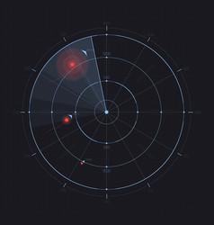 radar screen futuristic hud radar display vector image vector image