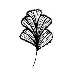 Rustic natural flower with petals design vector