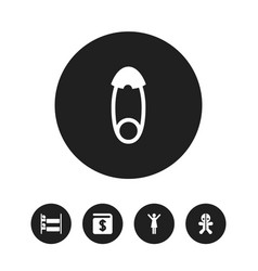 Set of 5 editable family icons includes symbols vector