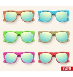 Set of Vintage Party sunglasses Retro style vector image vector image