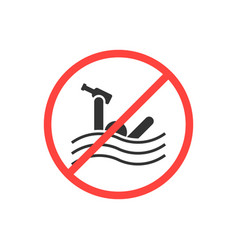 Sign prohibiting swimming drunk vector
