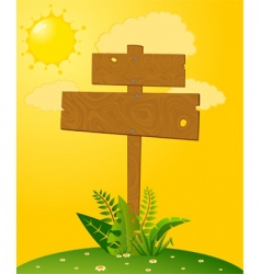 Signpost and landscape vector