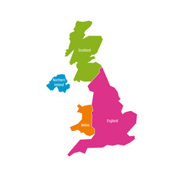 united kingdom uk of great britain and northern vector image