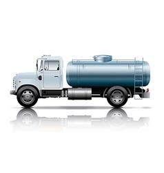 white tanker truck vector image