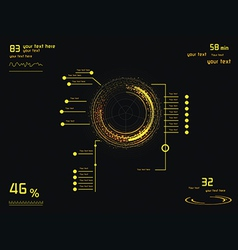 Yellow infographics as head-up display vector