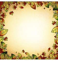 Autumn leaf border vector