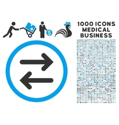 Flip horizontal icon with 1000 medical business vector