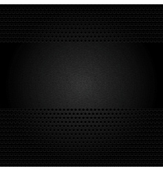 Dark gray background perforated sheet vector image