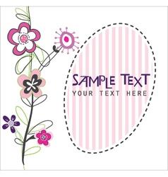 cute flower card vector image