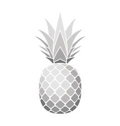 Pineapple silver icon vector