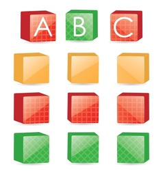 Color cubes vector