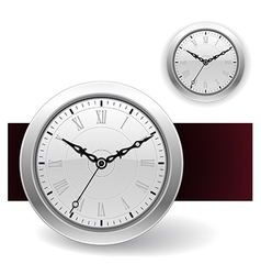 White clock icons vector