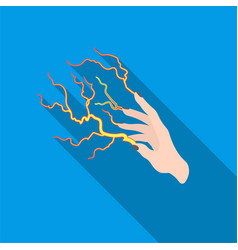 lightning spell icon in flate style isolated on vector image