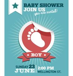 Baby Boy Shower Invitation Card vector image