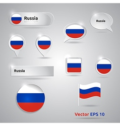 Russia icon set of flags vector