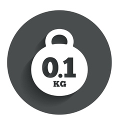 Weight sign icon 01 kilogram kg mail weight vector