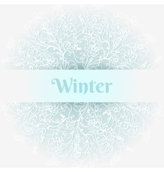 Cold winter background vector