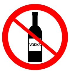 No vodka bottle sign vector