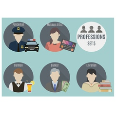 Profession people vector image