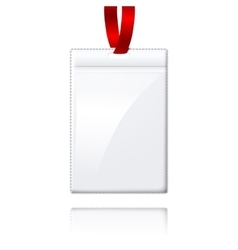 Blank realistic vertical badge holderwith vector image