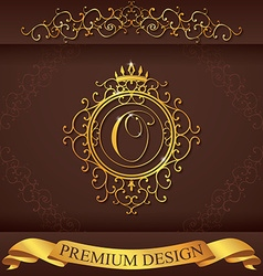 Letter o luxury logo template flourishes vector