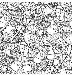 Seamless pattern set of confectionery vector