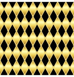 Gold glittering seamless pattern of triangles vector