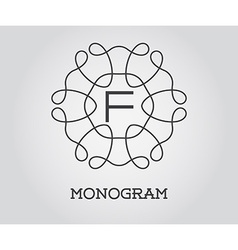 Monogram design template with letter premium vector