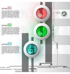 Colorful glass infographics vector