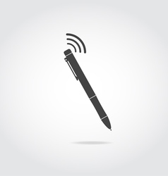 Pen with wi fi vector