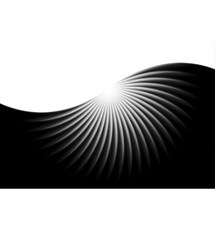 Abstract black swirl background vector image
