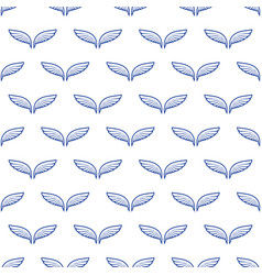 angel white wings sketch pattern vector image