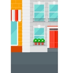 Background of cafe facade vector