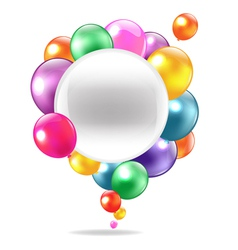 Balloons Speech Bubble vector image vector image