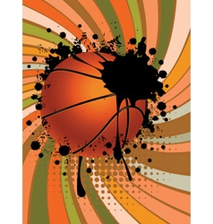 Basketball Ball on Rays Background2 vector image vector image