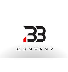 Bb logo letter design vector