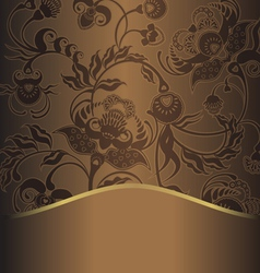 brown pattern retro vector image