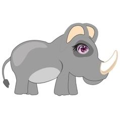 Cartoon animal rhinoceros vector image vector image