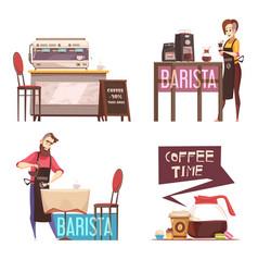 Coffee house 2x2 design concept vector