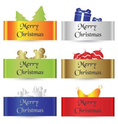 colorful paper shadow simple merry christmas cards vector image vector image