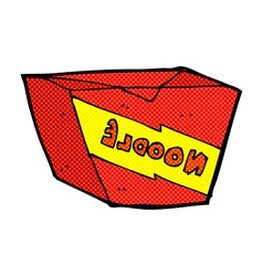 Comic cartoon noodle box vector