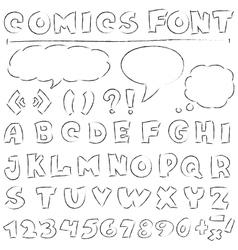 comics set vector image