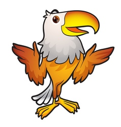 cute eagle mascot vector image