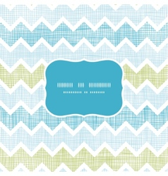 Fabric textured chevron stripes frame seamless vector image