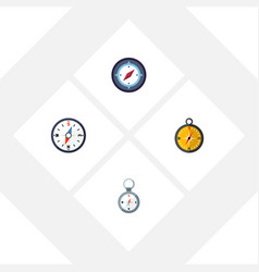 flat icon compass set of direction compass vector image vector image