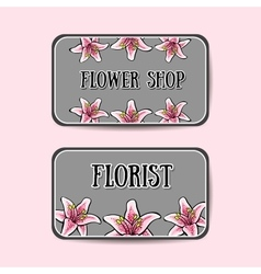 FlowerBusinessCards2 vector image vector image